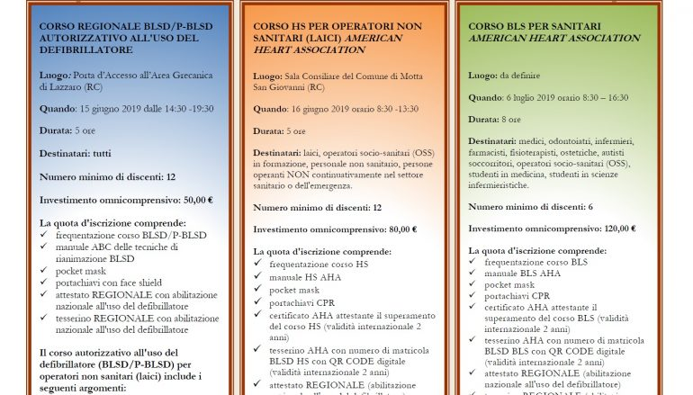 Corsi certificativi a Motta San Giovanni