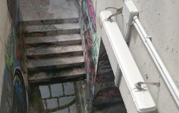 Sottopasso ferroviario di Lazzaro, potenziali pericoli