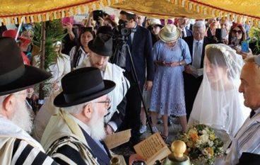 Matrimonio ebraico celebrato a Bova Marina