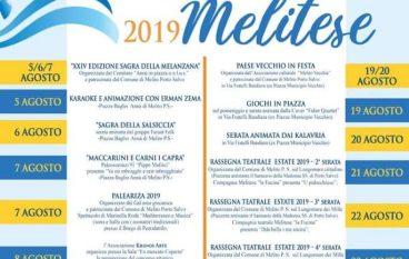 Agosto Melitese 2019, il programma