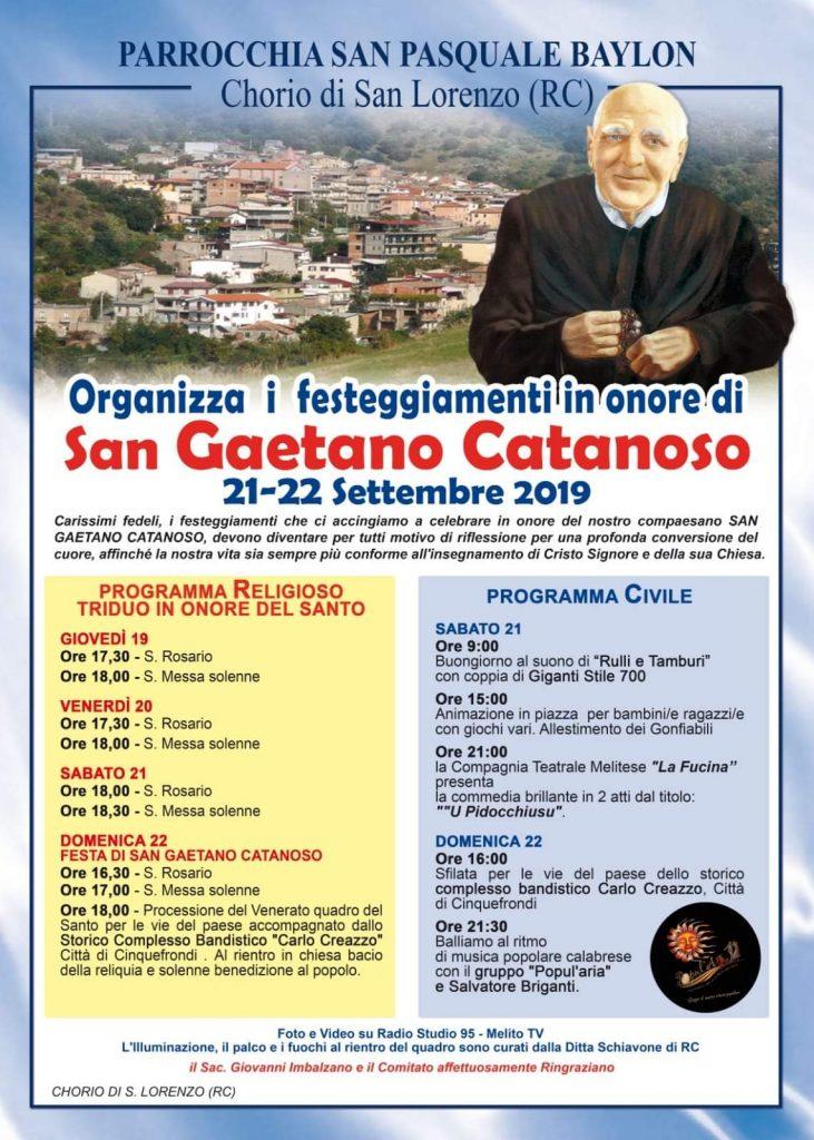 Festa San Gaetano Catanoso 2019