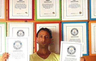 32 Guinness World Records per il reggino Rocco Mercurio