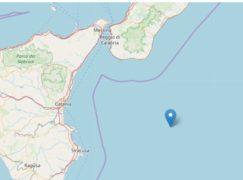 Terremoto nel mar Jonio al largo di Calabria e Sicilia