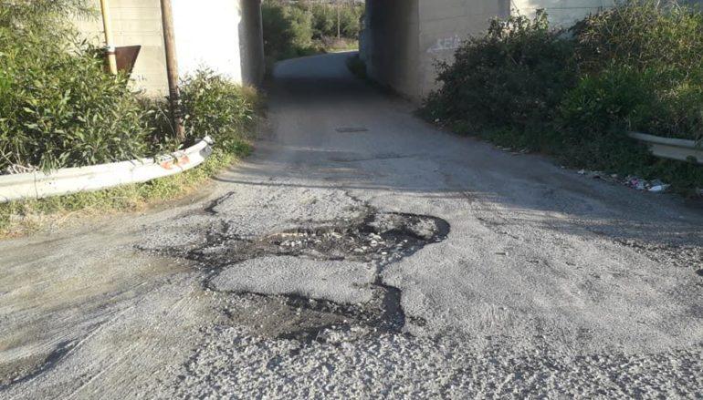 Dissesto stradale Borgata Sant'Elia – Porto di Saline, la denuncia