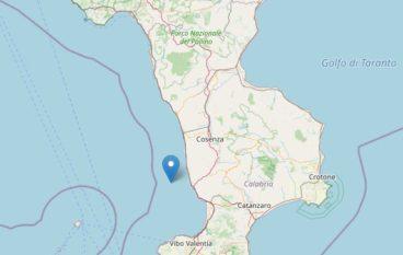 Calabria, scossa di terremoto a largo di Amantea