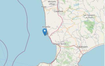 Scossa di terremoto nella costa calabra sud occidentale