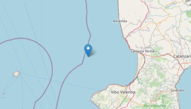 Terremoto di fronte alla costa fra Amantea e Lamezia Terme