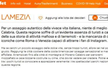 EasyJet su Lamezia: Calabria senza turisti per mafia e terremoti