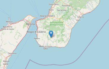 Scossa di terremoto a Condofuri di magnitudo 3.2