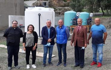 Benedizione impianto depurazione nel comune di Montebello Jonico
