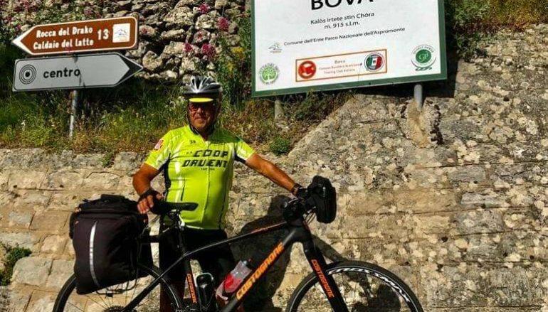 In bici da Giaveno a Bova (Rc) a 73 anni: la storia di Leo Iiriti