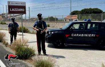 Furto aggravato di un autovettura a Lazzaro. Un arresto