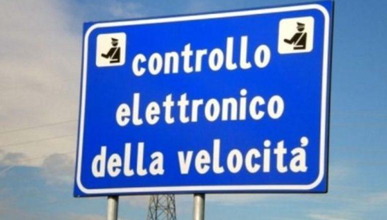 Controllo elettronico della velocitá sulla SS106 a Melito Porto Salvo